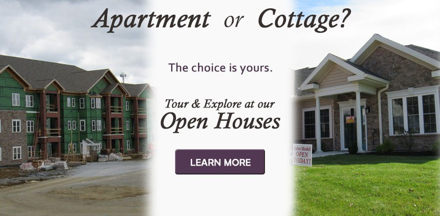 Apartment or Cottage? The choice is yours.