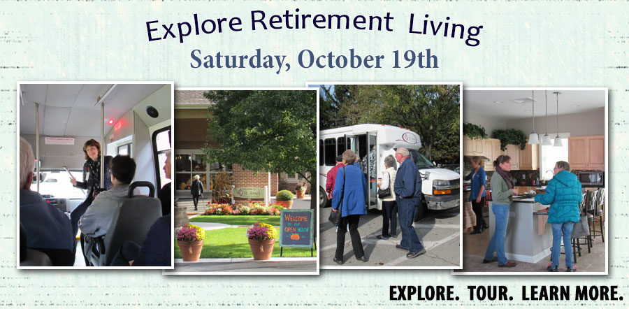 Explore Retirement Living Saturday, October 19th