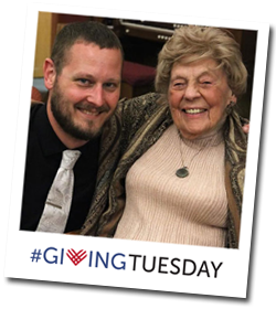 #GivingTuesday (volunteer smiling with Resident)