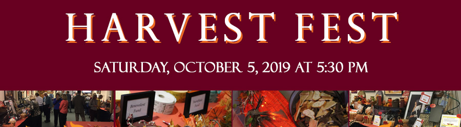 Harvest Fest is Saturday, October 5th at 5:30PM