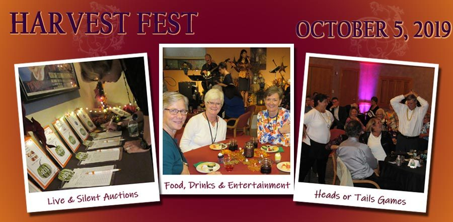Harvest Fest is Saturday, October 5. Auctions, food, drinks, entertainment, games and more!