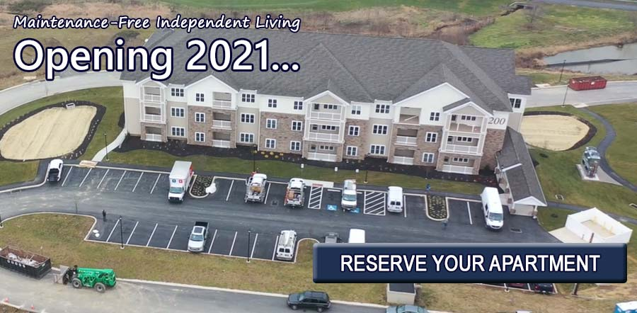 Maintenance-Free Independent Living Opening 2021... Reserve Your Apartment!