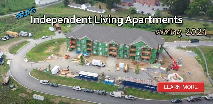 More Independent Living Apartments coming in 2021