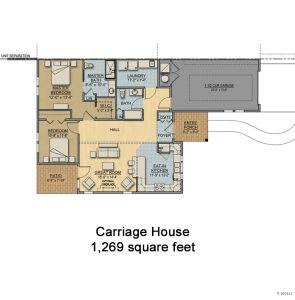 Floorplan for Cottage - Carriage House