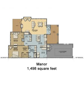 Floorplan for Cottage - Manor