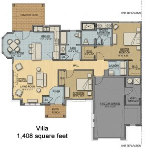 Floorplan for Cottage - Villa