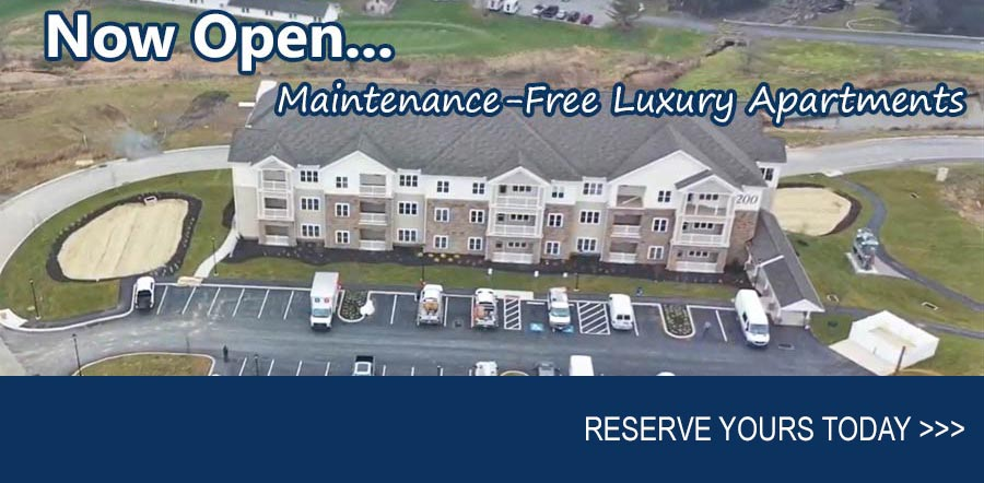 Now Open. Maintenance-Free Luxury Apartments. RESERVE YOURS >>