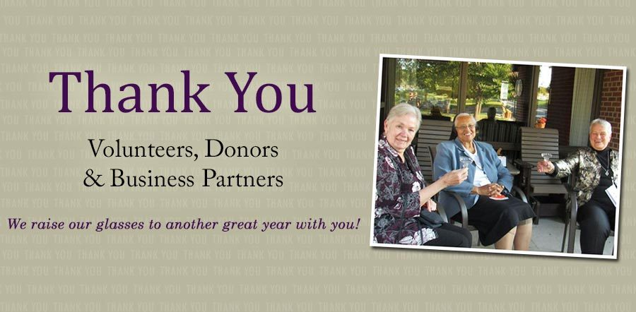 Thank You Volunteers, Donors and Business Partners. We raise our glasses to another great year with you.