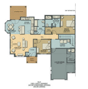 Floorplan for Cottage - Villa with Basement