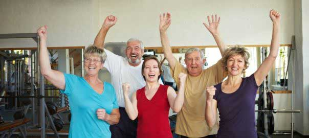active adults at a retirement community