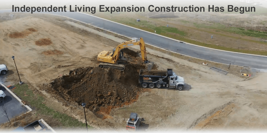 Retirement Community Expansion Construction Underway